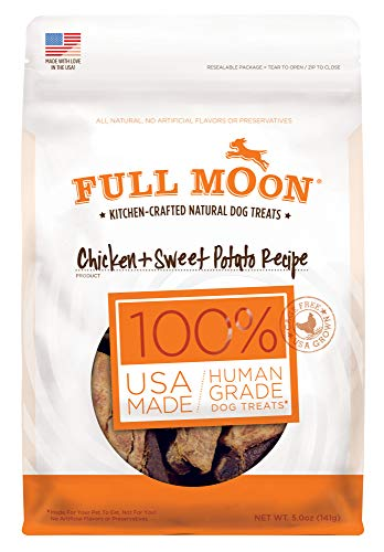 Full Moon All Natural Human Grade Dog Treats, Chicken & Sweet Potato, 5 Ounce (Sweet Potato Nuggets)