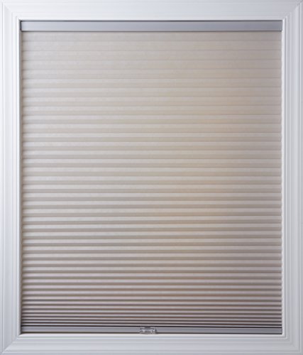 New Age Blinds Light Filtering Inside Frame Mount Cordless Cellular Shade 30-1/2 x 48-Inch Gray Sheen