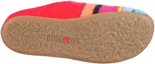 Haflinger Prisma Damen Flache Hausschuhe Rot (ziegelrot 85)
