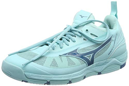 Mizuno Women's Wave Luminous Low-Top Sneakers, Turquoise (Asplash/Bsapphire/Asplas 001), 8 UK