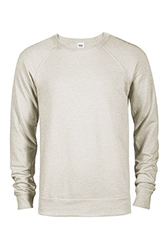 Casual Garb Men's Crew Neck Sweatshirts French Terry Crewneck Sweatshirt for Men Oatmeal Heather XX-Large