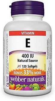 Webber Naturals Vitamin E Natural Source Softgel, 400 IU