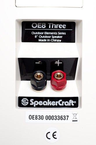 SpeakerCraft OE8 Three Outdoor Elements Speaker Black