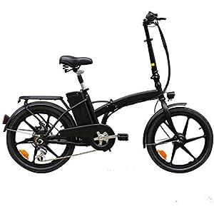 Portableadult Electric Bike, 20-Inch Mini Size Double Shock Absorption Commute Ebike Electric Bikes