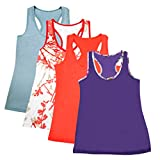 DD DEMOISELLE Work Out Tops Women, Girls Scoop Neck Summer Sport Running Yoga Tank Top Multicoloured