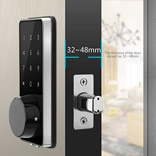AKASO Smart Lock Touch Screen Keypad Deadbolt APP Code Entrance Smart Electronic Digital Door Lock with Key Remote Keypad for Home Hotels Apartment 41i0M LOXJL