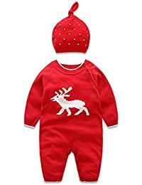 Newborn Baby Boy Baby Girl Clothes Christmas Gingerbread Man Hoodies Romper Cotton Long Sleeve Outfit
