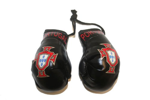 Portugal FIFA Soccer World Cup BLACK Mini Boxing Gloves..New