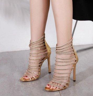 Talons Golden Club Gold Heels Toe Hauts Chaussures À ZHUDJ Golden Creux Chaussures q6pPfw7Wt