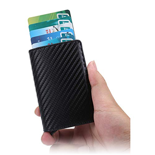 Clearance 2019 New Aluminum Wallet Credit Card Holder Metal with RFID Blocking Slim Carbon Fiber Card ID Wallet by Francis4 (Image #4)
