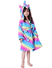 Lantop Kid Bathrobe Unicorn Flannel Robe Unisex Gift All Season Sleepwear