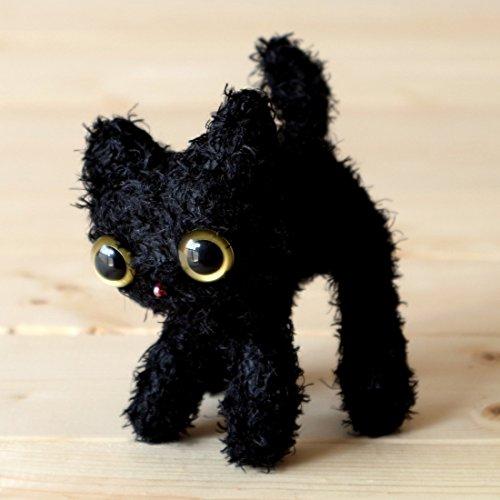(Necoichi Cat Doll Stuffed Animal (Black,)