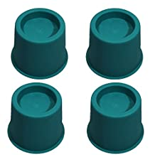 Fadyshow Adjustable Bed Risers Furniture Riser Chairs lifts 5inch Set of 4 Pieces (Green)