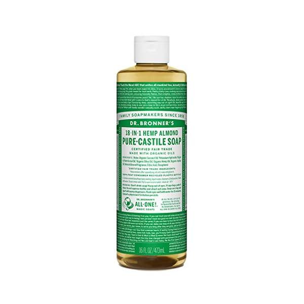 Dr. Bronner's Organic Almond Pure-Castile Liquid Soap, 473 ml