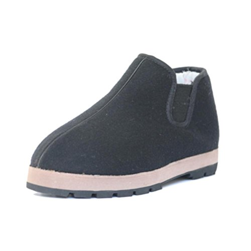 chaussures résistant black Hommes serrées coton d'hiver en chaussures bas chaussures anti épaississement bouche femmes chaussures dérapant neige en QPYC chaussures chaussures tissu âgées talon et à l'usure CxZFTd