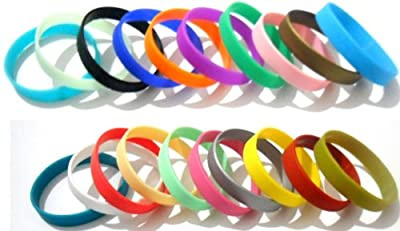 Multi Color Blank Silicone Bracelet Rubber Blank Sport Cuff Fashion Unisex Wristband