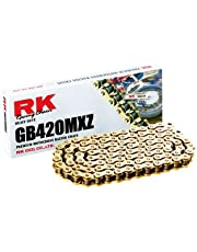 RK Racing Chain GB420MXZ-110 Gold 110-Links Heavy Duty Chain with Connecting Link