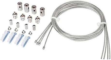 TSSS 16 pezzi cavi da sospensione di fissaggio per l'installazione di plafoniere LED da soffitto, con catena di 1m