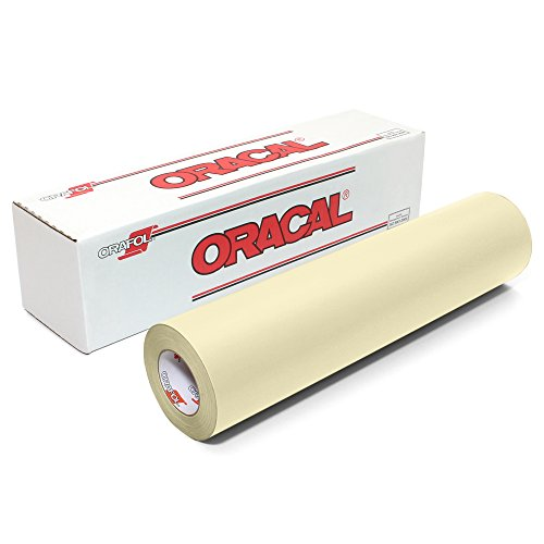 Oracal 631 Matte Vinyl Roll 12 Inches by 150 Feet - Ivory - Ivory Vinyl