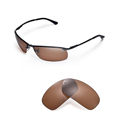 Walleva Replacement Lenses for Ray-Ban RB3183 63mm Sunglasses - Multiple Options Available (Brown - Polarized)