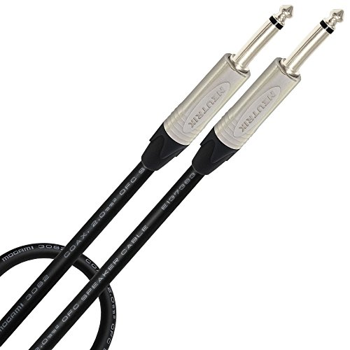 4 Foot - Coaxial Studio Speaker Cable CUSTOM MADE By WORLDS BEST CABLES – using Mogami 3082 wire & Neutrik NP2X ¼ Inch (6.35mm) Straight TS (Neutrik Cable Speaker Cable)