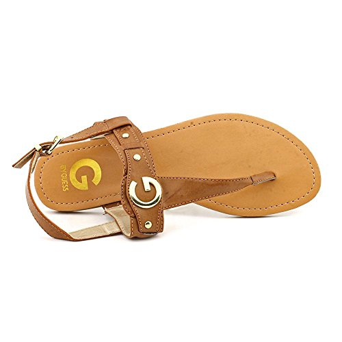 G By Guess Lundon-X Womens Size 7 Brown Faux Leather Slingback Sandals Shoes