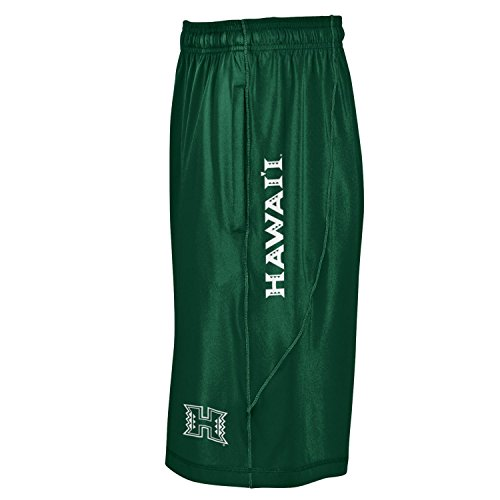 NCAA Hawaii Rainbow Warriors Men's Raid Shorts, X-Large, Forest Green (Warriors Green Green Hawaii)