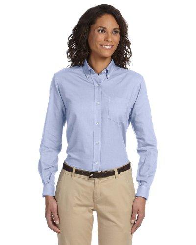 (Van Heusen 59800 Womens L-Sleeve Wri-Resistant Oxford - Light Blue - X-Large)