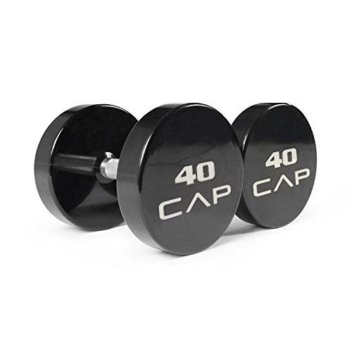 CAP Barbell Solid Commercial Urethane Dumbbell, 45 lb