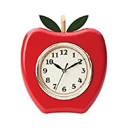 APPLE WALL CLOCK (BATTERY OPERATED) [Kitchen]