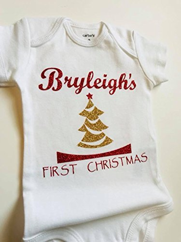 53aa0e69158a Amazon.com  Baby s First Christmas Personalized