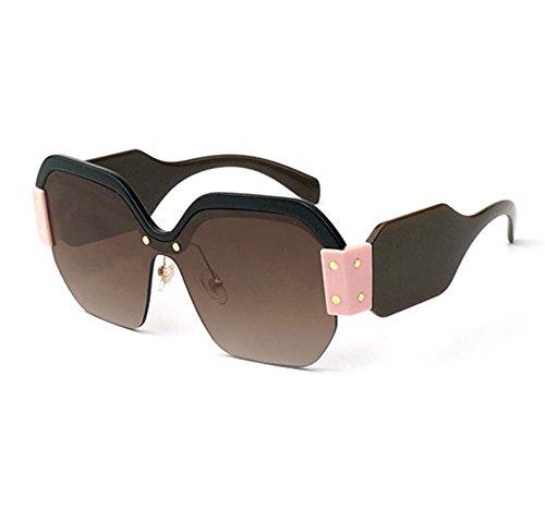 no lente de Gafas señora la polarizadas de Marco plástico vendimia de de de sol Bromn tamaño la retra la cuadradas gran zw4wt0q