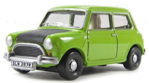 Oxford Diecast Model 1 76 Classic Mini Lime Green Car Collectable