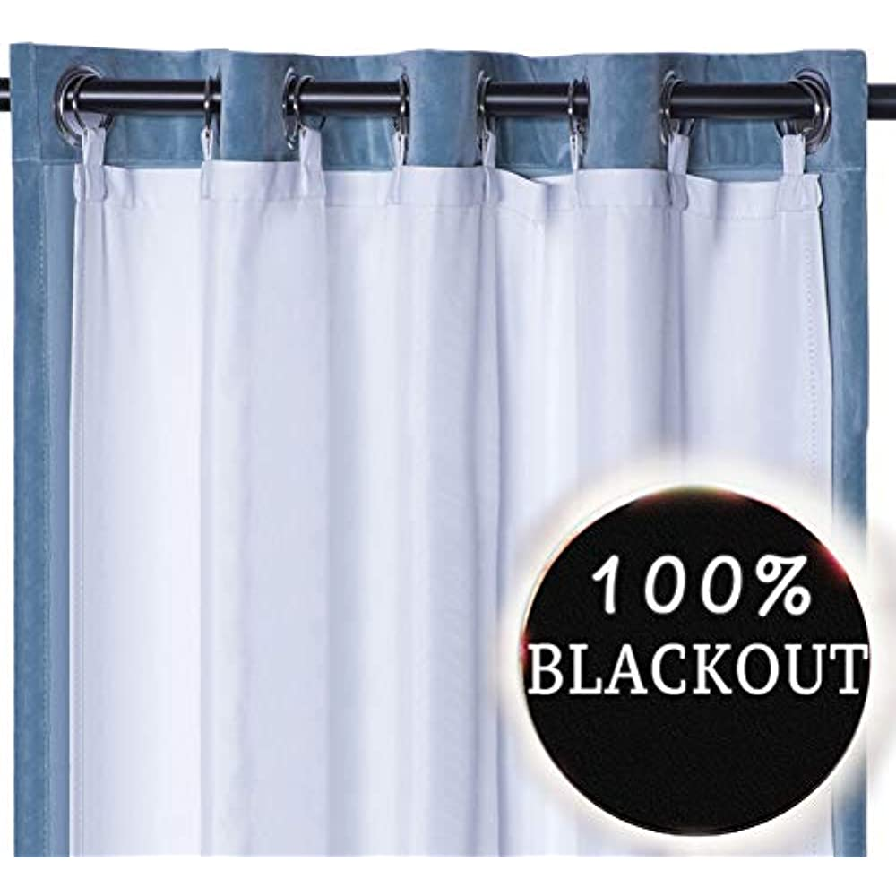 Thermal Insulated Blackout Curtain Liner Panel-Ring