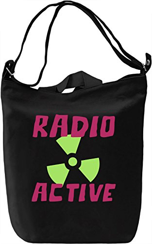 Radio active Borsa Giornaliera Canvas Canvas Day Bag| 100% Premium Cotton Canvas| DTG Printing|