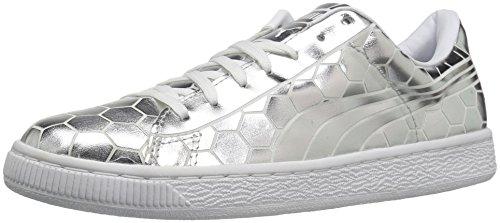 Puma Donna Cesto Classico Metallico Wns Fashion Sneaker Argento