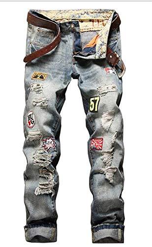 Moda Originale Coltivare Uomo Da Cowboy E Straight Reality Ssig Jeans Blau Alla Giovane Vintage q740xW7w