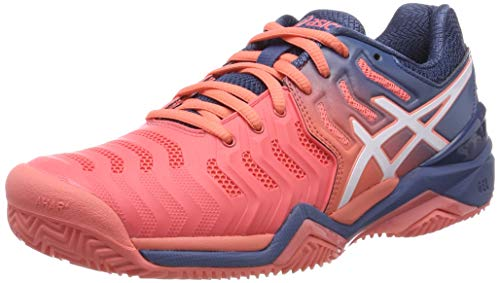 ASICS Damen Gel-Resolution 7 Clay Tennisschuhe, Schwarz, 37.5 EU