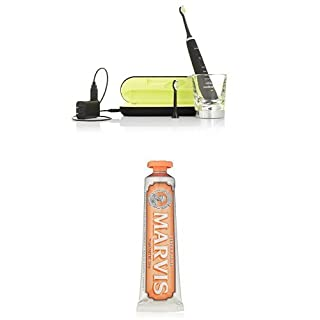 Philips Sonicare DiamondClean Sonic Electric Toothbrush, Black and Marvis Ginger Mint Toothpaste, 3.8 Oz. (B01DJNVPIK) | Amazon price tracker / tracking, Amazon price history charts, Amazon price watches, Amazon price drop alerts
