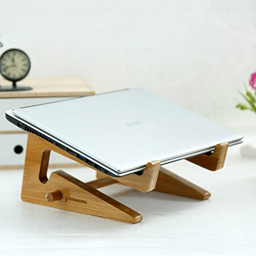 Preself Handmade Laptop Wooden Stand Bamboo Heat Sink Computer Mount for Ipad,IPad Mini,Ipad 4,Ipad 2,Apple Macbook