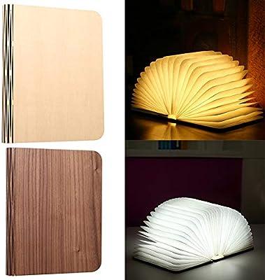 PUAK523 Lámpara de madera para libros, 4 colores/5 colores ...