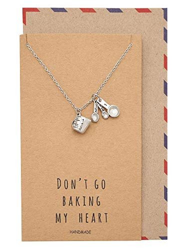 or Her Measuring Cup and Spoons Necklace, Funny Quotes on Greeting Card ()
