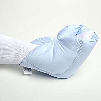 MediChoice Heel Pillow, 1 Pair, Breathable Cotton Polyester Cover with Microfiber Fill, Hook and Loop Fasteners, Universal (1 Pair)