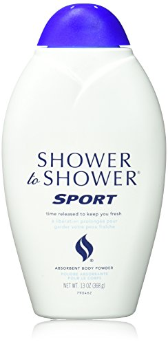 Body Shower Shower Powder (SHOWER TO SHOWER Body Powder, Sport 13 oz)