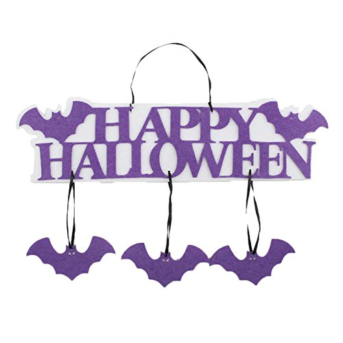 Freedi Hanging Ghost Outdoor Happy Halloween Sings Decoration Home Hanging Party (Halloween Windsocks Craft)
