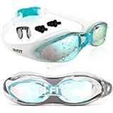 U-FIT Swim Goggles | Swimming Goggles For Men Women Adults - Best Non Leaking Anti-Fog UV Protection Clear Vision - Free Goggle Case Nose and Ear Plugs