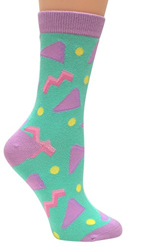 - Circa 1990's, Anydaze Women's Crew Socks, Soft Combed Cotton and smooth toe