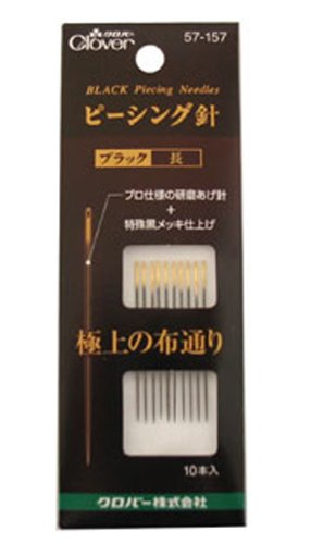 Clover piecing black needle length (japan import) 57-157
