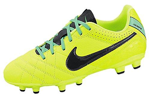 Nike Tiempo Natural IV Leather FG Junior - Volt/Black/Green Glow (2.5 M US Little Kid)