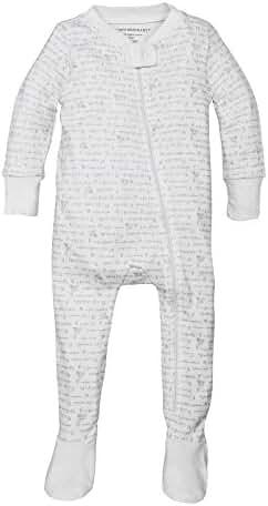 Burt's Bees Baby - Sleeper with Easy to Change Zip Up Front, 100% Organic Cotton